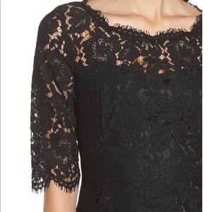 Eliza j black lace fit and flare dress